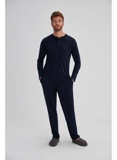 Eros Pijama Takım Lacivert